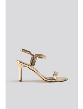 Two Way Ankle Strap Heels Gold by Na Kd Shoes