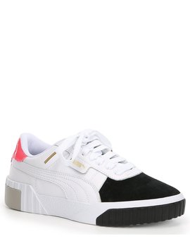 Women's Cali Remix Leather Colorblock Sneakers by Puma