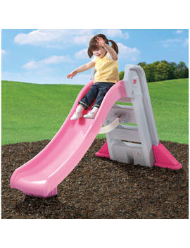 Step2 Naturally Playful Big Folding Pink Outdoor Slide For Toddlers by Step2