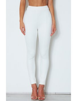 Soho Suede Pants Off White by White Fox