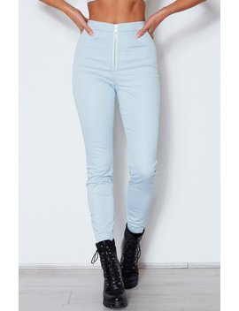 As If! Fitted Pants Baby Blue by White Fox