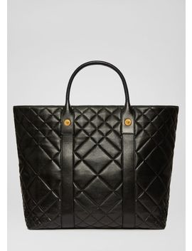 Quilted Leather Tote Bag by Versace
