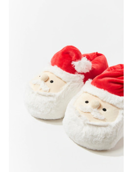 Plush Santa Slippers by Forever 21