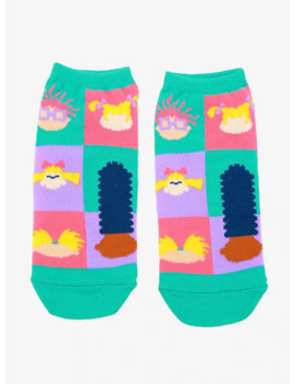 Nickelodeon Characters Silhouettes No Show Socks by Hot Topic
