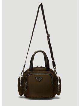 Four Pocket Shoulder Bag In Green by Prada