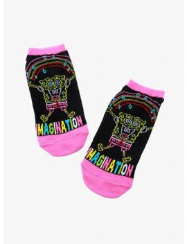 Sponge Bob Square Pants Neon Imagination No Show Socks by Hot Topic