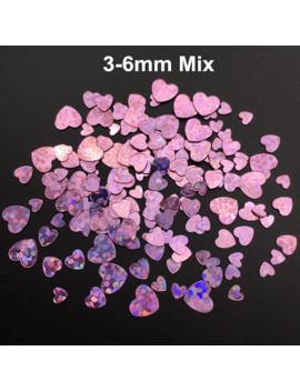 3 4 6mm Mix Heart Pvc Loose Sequins Glitter Paillettes For Nail Art Manicure, Wedding Confetti,Accessories For Ornament/Crafts by Ali Express.Com