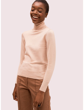 Metallic Ribbed Turtleneck by Kate Spade