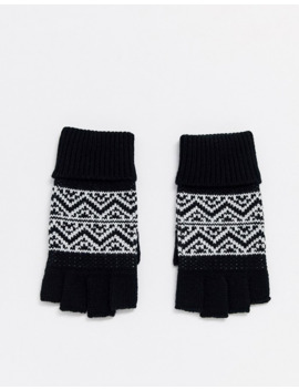 Asos Design Fingerless Gloves In Fairisle Design by Asos Design
