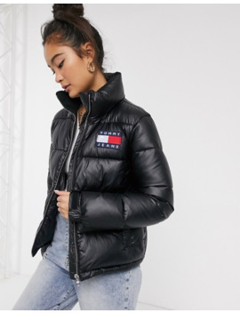 Tommy Jeans Metallic Logo Padded Jacket by Tommy Jeans Capsule