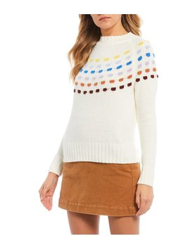 Rainbow Stitched Sweater by Copper Key