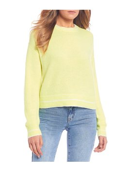 Crew Neck Neon Sweater by Gb