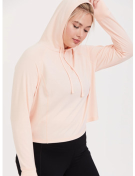 Light Pink Crop Active Hoodie by Torrid