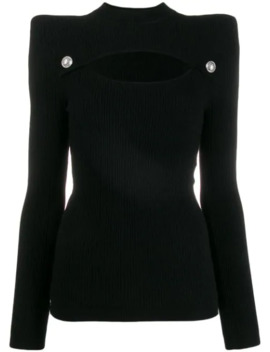 Structured Cut Out Knitted Top by Balmain