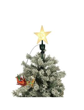 20 In. Tree Topper Santa And Sleigh by Mr. Christmas