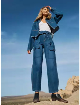 Adventure Cargo Pant In Denim by New York & Company