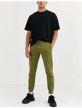 Asos Design Tapered Sweatpants In Olive Green by Asos Design