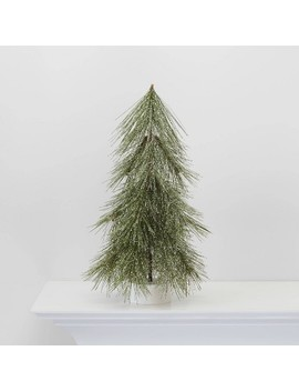 Small Lit Flocked Hard Needle Christmas Tree Decorative Figurine   Wondershop™ by Shop This Collection