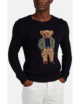 Teddy Bear Intarsia Knit Sweater by Ralph Lauren Purple Label