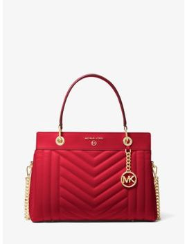 Susan Medium Quilted Leather Satchel by Michael Michael Kors