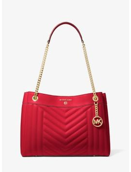 Susan Medium Quilted Leather Shoulder Bag by Michael Michael Kors