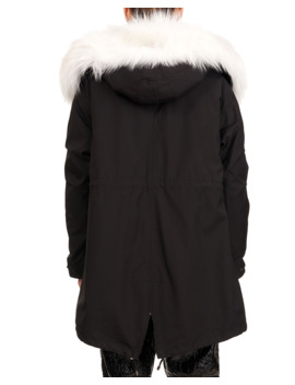 Parka W/ Fox Fur Tuxedo And Trim by Gorski