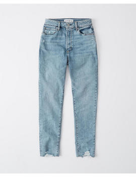Curve Love High Rise Ankle Jeans by Abercrombie & Fitch