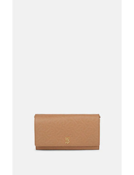 Hazelmere Leather Chain Wallet by Burberry