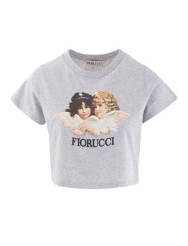 Vintage Angels Cropped T Shirt by Fiorucci