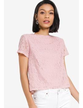 Lace Boxy Top by Zalora Basics