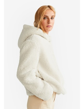 Hooded Faux Shearling Jacket by Mango