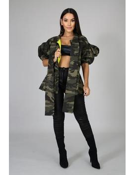 Camo Fluff Jacket by Gitionline