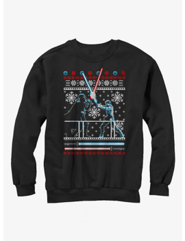 Star Wars Ugly Christmas Sweater Duel Girls Sweatshirt by Hot Topic