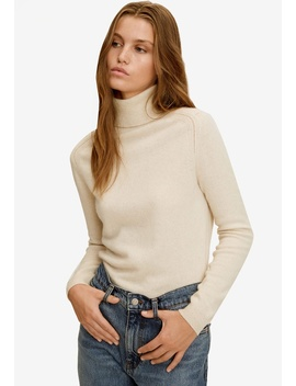Turtleneck Cashmere Sweater by Mango