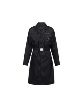 Nylon Gabardine Coat by Prada