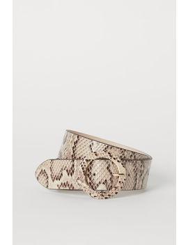 Snakeskin Patterned Waist Belt by H&M