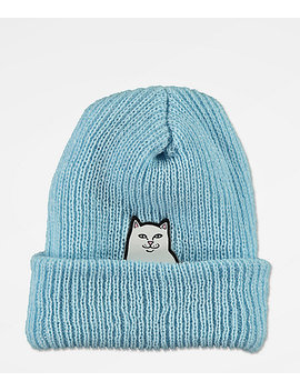 Ripndip Lord Nermal Baby Blue Beanie by Ripndip