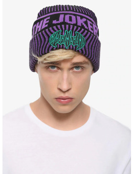Dc Comics The Joker Striped Watchman Beanie by Hot Topic
