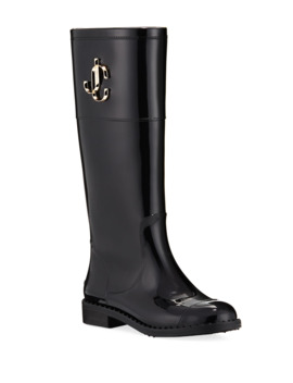 Edit Flat Knee Rain Boots by Jimmy Choo