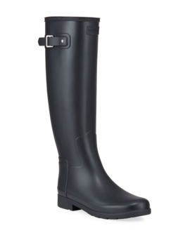 Original Refined Tall Matte Rain Boots by Hunter Boot