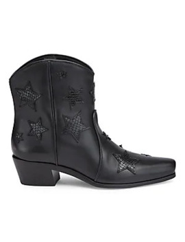 Leather Cowboy Boots by Miu Miu