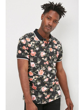 Rose Floral Print Polo by Forever 21