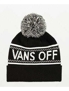 Vans Pep Rally Black & Grey Pom Beanie by Vans