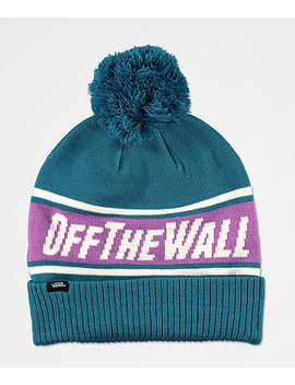 Vans Off The Wall Turquoise Pom Beanie by Vans