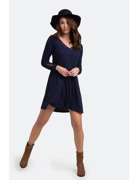 Breena Lace Sleeve Dress by Francesca's