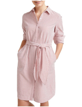 Lolita Stripe Shirt Dress by Sportscraft