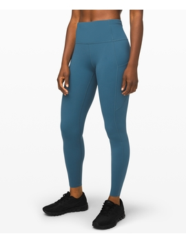 """Fast And Free High Rise Tight 28"""" Non Reflective Brushed Nulux Nulux™ by Lululemon"""
