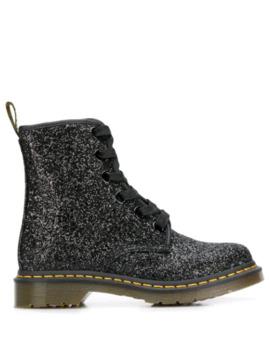 1460 Farrah Glitter Boots by Dr. Martens