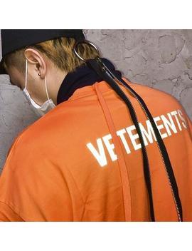 Vetements Short Sleeve Staff Logo Letter 3 M Reflective Round Neck High Street Tee Men And Women Summer Cotton T Shirt S~Xl Hfbytx258 by D Hgate.Com