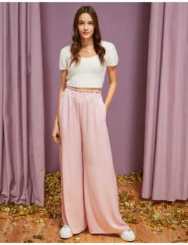Ae Studio Wide Leg Pant by American Eagle Outfitters
